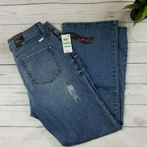 Inc boot leg curvy fit, short length jean size 8s
